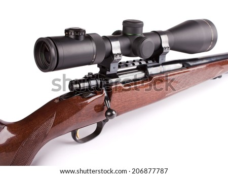 studio shot hunting scoped rifle 2510 stock photo edit now