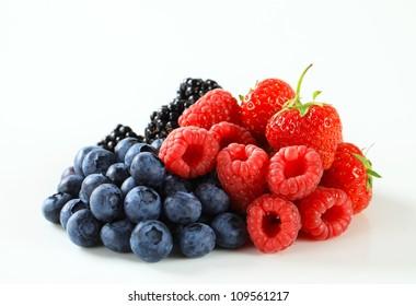 Studio shot of mixed berries