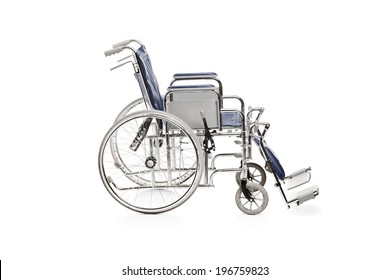 Studio shot of a wheelchair isolated on white background