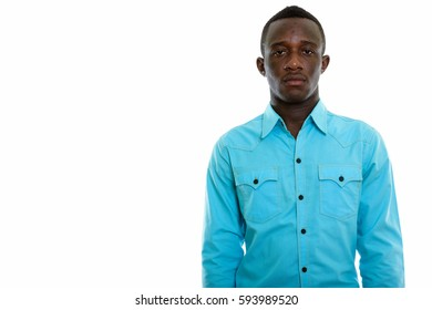 Studio shot of young black African man