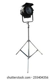 Studio spotlight lighting equipment isolated on white background