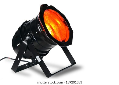 Studio Spotlight or Stage Light on White Background