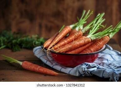 Studio Still Life with fresh Carrots
