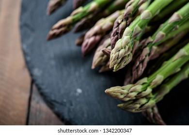 Studio Still Life with Fresh Green Asparagus