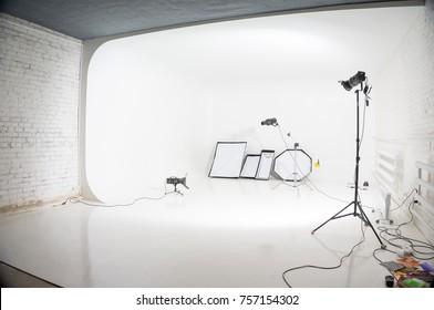 studio with white cyclorama