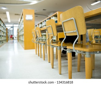 Study area inside a modern library.