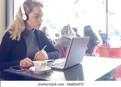 study girl student
