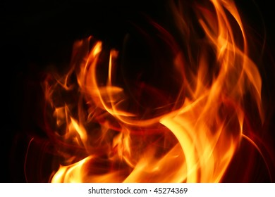 study of pattern and color of flames
