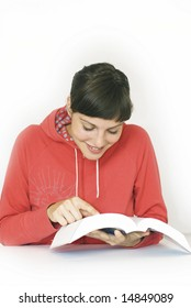Studying women with a book