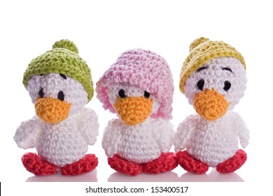 stuffed animal duck chicks with hat
