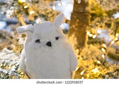 Stuffed animal: snowy owl