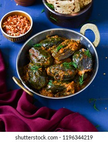 stuffed brinjal curry, bharwa baigan ki sabzi