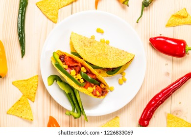 Stuffed colorful burritos on a white background