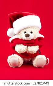 Stuffed cute santa bear