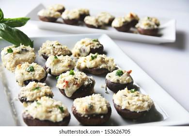 Stuffed Mushrooms Caprese