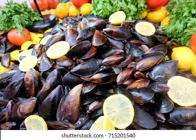 Stuffed Mussels. Midye Dolma is a kind of mediterranean cuisine. Seafood from Alacati, Cesme, Turkey. It is popular traditional food with beer in Izmir, Turkey.