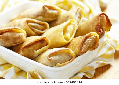 Stuffed pancakes crepes
