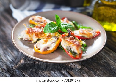 Stuffed peppers with  sardines and mozzarella