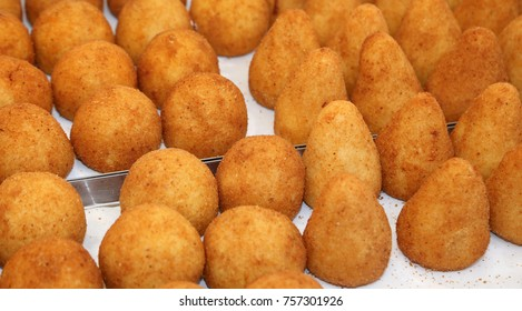 stuffed rice padded with stuffed vegetables or meat called ARANCINI DI RISO in Italy