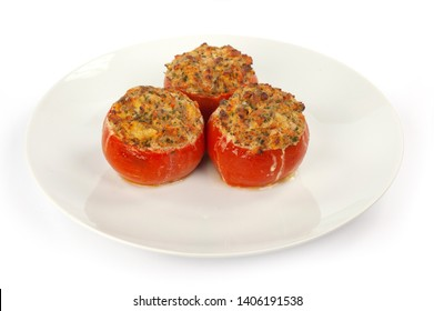 stuffed tomatoes with breadcrumbs baked in the oven