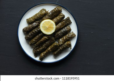 stuffted grape leaves with rice, dolma,sarma
