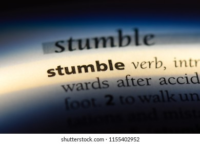 stumble word in a dictionary. stumble concept.