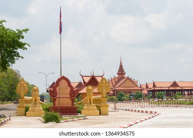 Stung Treng, Cambodia - Apr 01 2019- TRAPEANG KREAL IMMIGRATION is a major border crossing between Cambodia and Laos.