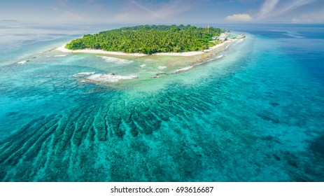 Stunning aerial view of island