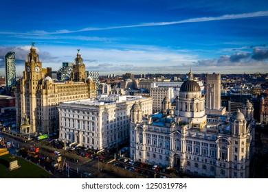 Stunning aerial views of an historic city skyline