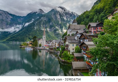 Stunning alpine village called Hallstatt, Salzkammergut, Austria, Europe