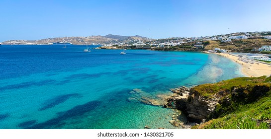 Stunning bay and panoramic view in Mikonos, Greece