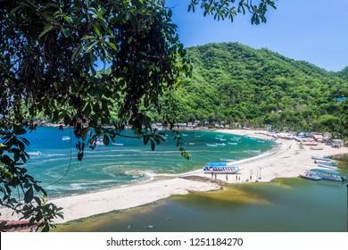 The stunning beach of Yelapa - Riviera Nayarit - Mexico