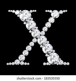 "A stunning beautiful ""X"" set in diamonds"