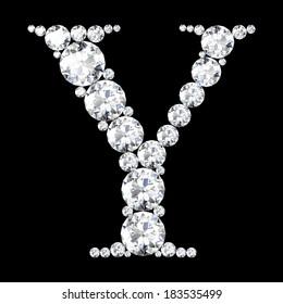 "A stunning beautiful ""Y"" set in diamonds"