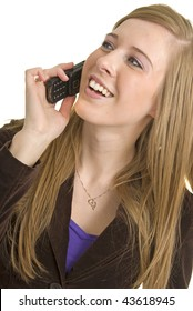Stunning business professional talks on cell phone