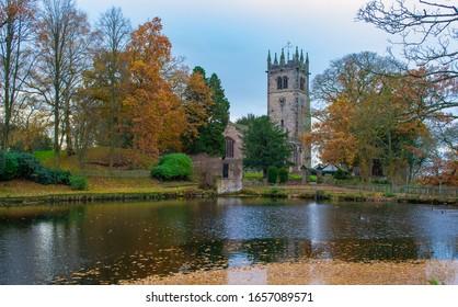 The stunning church setting at Gawsworth