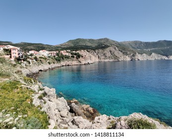 Stunning clear waters behind Assos