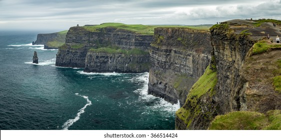 Stunning Cliffs of Moher on West Coast of Ireland on a Stormy Summer Day