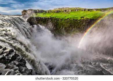 Stunning Dettifoss waterfall in Iceland