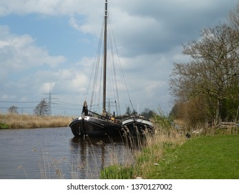 stunning dutch barges in the Netherlands