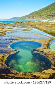 Stunning Figure Eight pools, Sydney, NSW, Australia. Natural pool  that was scour by seawater flow.