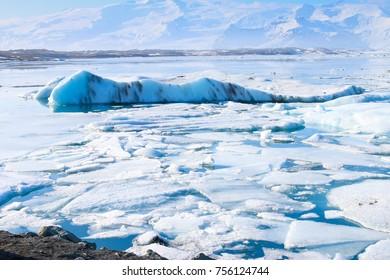 Stunning Glacier lagoon at Jokulsarlon in Iceland.