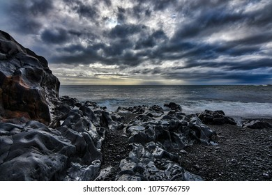 Stunning icelandic landscapes with postcard natural scenery and dramatic clouds
