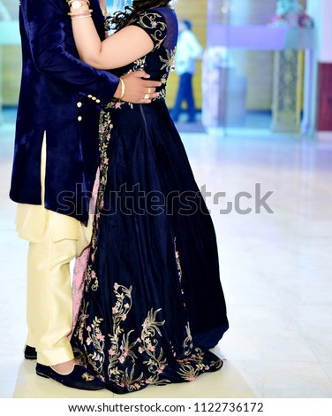 Stunning Indian Wedding Couples Traditional Wear Stock Photo Edit