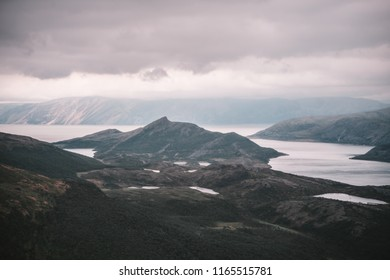 The stunning landscape of Northern Norway, Finnmark, near the famous Nordkapp