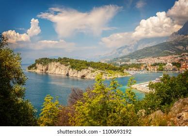 Stunning landscape of the peninsula of Sveti Petar and Makarska, Croatia.
