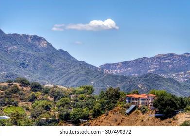 Stunning landscapes of Topanga Canyon, California.