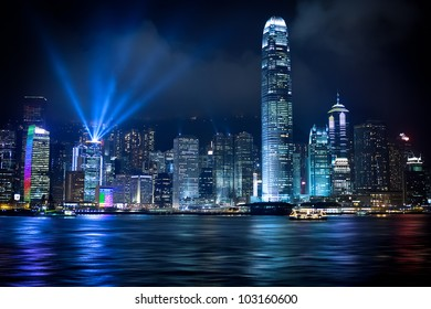 Stunning Light show in Hong Kong