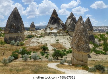 The stunning Love Valley is named for its erotic erosion! Located near Goreme, Capadocia, Turkey