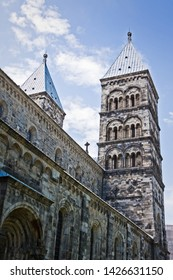 The stunning Lund Cathedral in Lund, Sweden.